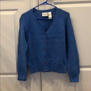 Liz Claiborne blue knit cardigan sweater